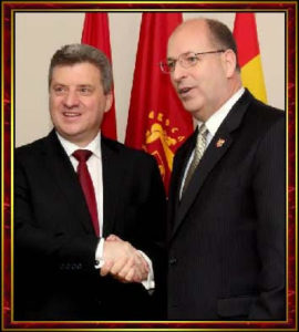 © NWCCU: His Excellency Dr. Gjorge Ivanov, President of the FYR of Macedonia, and General Robert E. Lee Goodwin III