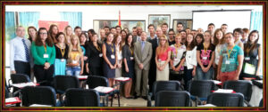 Professor Robert E. Lee Goodwin III with Speakers and Students - President's School for Young Leaders - Ohrid, Republic of Macedonia - 19 AUG 2013